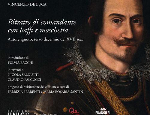 Ritratto di comandante con baffi e moschetta – Autore ignoto, terzo decennio del XVII sec.
